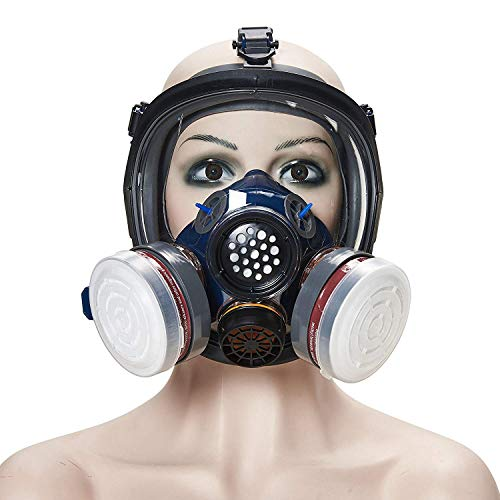 Phoenixfly99 Organic Vapor Full Face Respirator Safety Mask N95 Activated Charcoal Air filter For Painting Formaldehyde Anti Virus Respiratory Protection (Safety mask+1 Pair 3# filter) by Phoenixfly99 (Image #2)