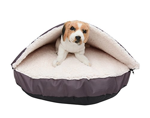 HappyCare-Textiles-Pet-Cave-and-Round-Pet-Bed-for-Cats-and-Small-Dogs-25-by-4-Red