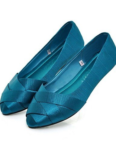 zapatos de PDX seda gris cn39 Casual green negro uk6 plano mujer eu39 redonda rojo punta us8 Flats azul verde de talón grgdqw5
