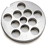 """Size #12 stainless steel meat grinder disc. 2 3/4"""" diameter"""