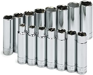 product image for SK 1945 15 Piece 1/2-Inch Drive 6 Point 10-Millimeter to 24-Millimeter Deep Metric Socket Set