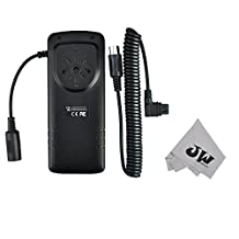 JW BP-CA1 External Flash Battery Pack For YONGNUO YN-560II IV YN600EX-RT Canon 600EX II-RT 600EX-RT 580EX II 550EX MR-14EX MT-24EX Nissin Di866 Mark II MG8000 Replaces CP-E4+JW Cleaning Cloth
