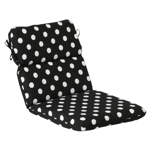 Pillow Perfect Indoor/Outdoor Black/White Polka Dot Chair...