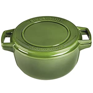 KitchenAid KCPI60CRIG Professional Cast Iron 6 Quart Casserole Cookware    Ivy Green
