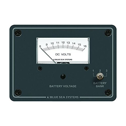 Brand New Blue Sea Systems Blue Sea 8015 Dc Analog Voltmeter W/ (Blue Sea 8003 Voltmeter)