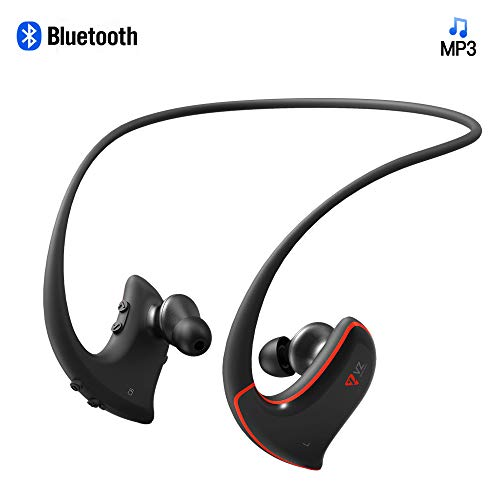 Bluetooth Sports MP3 Headphones Wireless Wearable Music Player Headset Packed with 16GB TF Card Splashproof Sweatproof IPX4 for Gym Exercising Running Jogging and Study_VZ SPORT MATE (Mp3 Headphones Player)