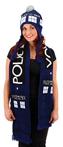 [UHC Doctor Who Tardis Laplander Hat Halloween Costume Accessory] (The Who Halloween Costume)