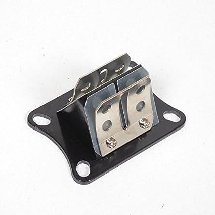 Caja con válvula de admisión para moto Minarelli 50 AM6, dos láminas: Amazon.es: Coche y moto