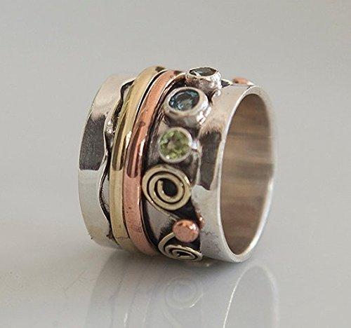 Spinner Ring - Meditation Ring - Anti Stress Ring -