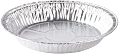 9\  x 1\  Medium Depth Aluminum Silver Foil Pie Pan (Pack of 50  sc 1 st  Amazon.com & Amazon.com: Aluminum - Pie Pans / Pie Tart \u0026 Quiche Pans: Home ...
