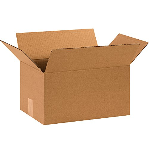BOX USA B15108100PK Corrugated Boxes, 15'' L x 10'' W x 8'' H, Kraft (Pack of 100) by BOX USA