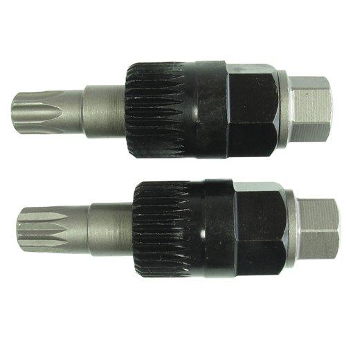 Alkan-Werkzeug Lot de 2 outils à écrou multi-dents pour poulie d'alternateur de roue libre Torx T50 XZN M10