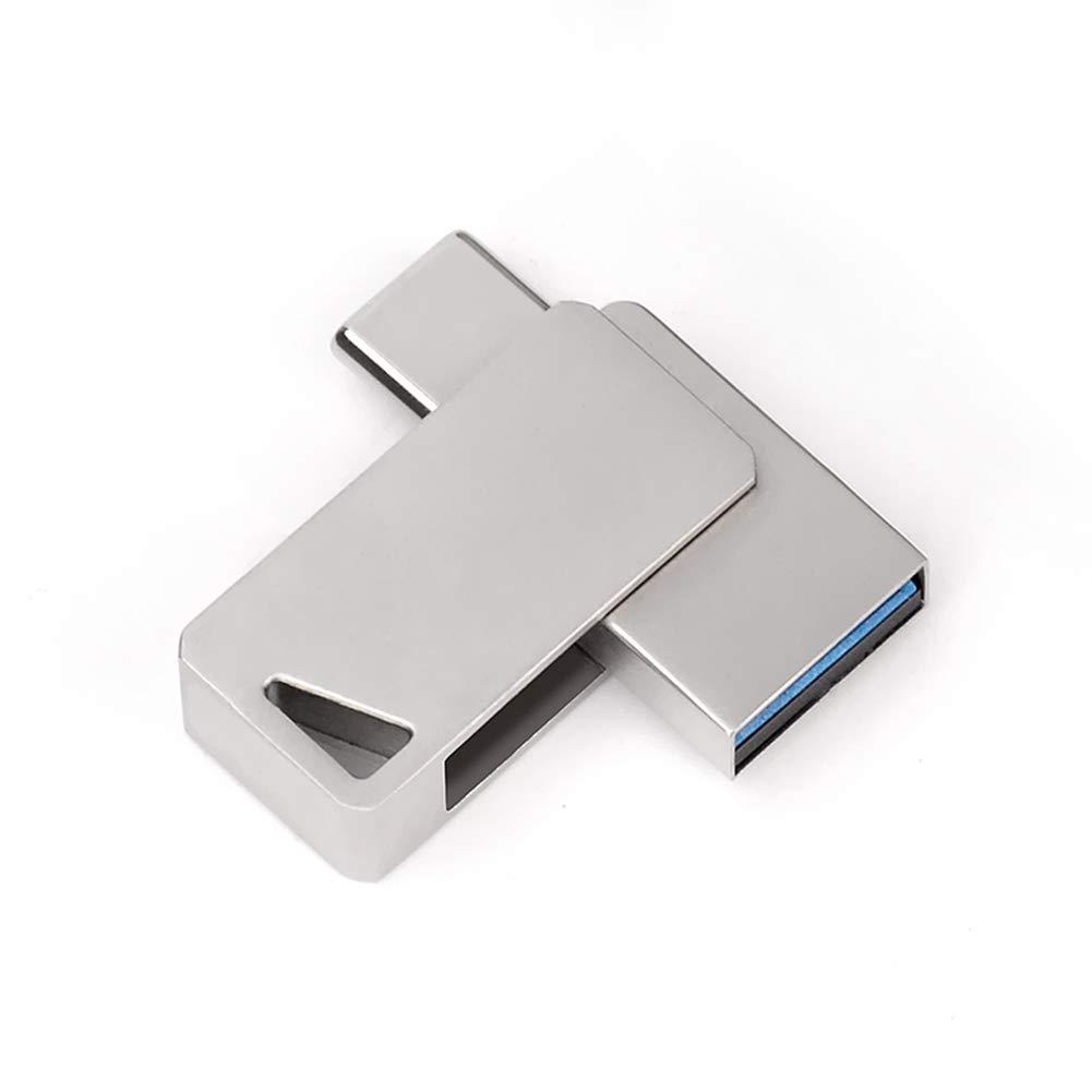 Tablet o Nuovo MacBook Argento 64 GB ,64gbusb3.0 IGRNG U Disco Flash Drive Pen USB 3.0 Type-C interfaccia Dual Drive Memoria archiviazione 64 GB Disco U per telefoni cellulari
