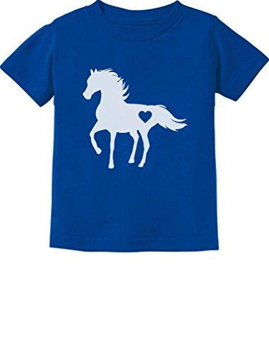 Tstars Gift for Horse Lover Love Horses Toddler Kids T-Shirt 3T Blue by Tstars (Image #1)