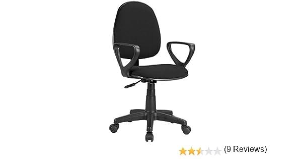 Adec - Danfer, Silla de escritorio, silla de oficina, silla de despacho, acabado en color Negro, medidas: 54 x 79 - 91 cm.