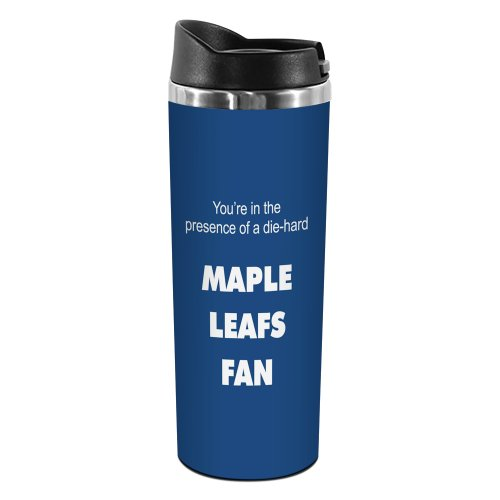 Leafs Travel Maple Toronto Mug (Tree-Free Greetings TT02196 Maple Leafs Hockey Fan 18-8 Double Wall Stainless Artful Tumbler, 14-Ounce)