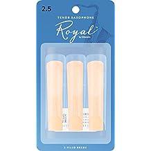 Rico Royal Tenor Sax Reeds, Strength 2.5, 3-pack