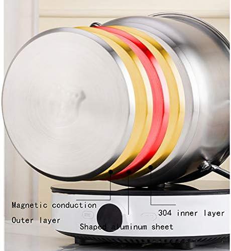 304 pot en acier inoxydable Cocotte avec couvercle en verre et poli miroir, pot soupe faitout en acier inoxydable Binaural (Size : 30 * 24cm)
