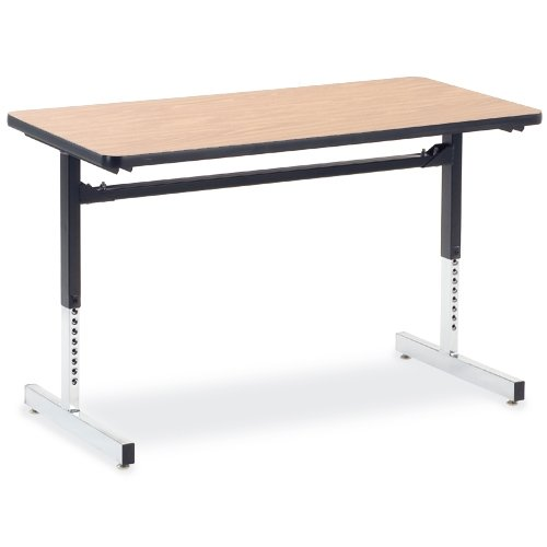 Virco 8700 Series Rectangular Activity Table, 48W X 24D X 30H, Medium Oak ()