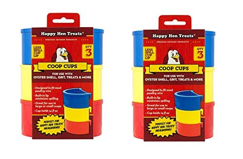 Happy Hen Poultry Coop Cup, 14 Ounces Each (6 Cups) by Happy Hen Treats