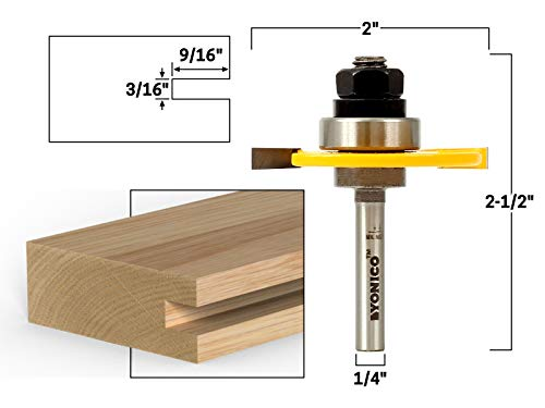 (Yonico 12105q 3/16-Inch Slotting Cutter Router Bit 1/4-Inch Shank)