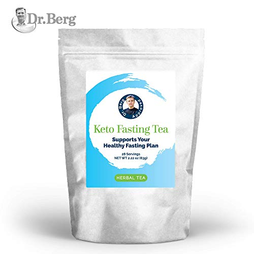 Dr. Berg's Keto Fasting Tea (Unsweetened) Caffeine-Free - an Appetite Suppressant Green Herbal Tea Drink to Help Reduce Hunger for Weight Loss - Dietary Supplement (Solo) (Best Green Smoothie App)