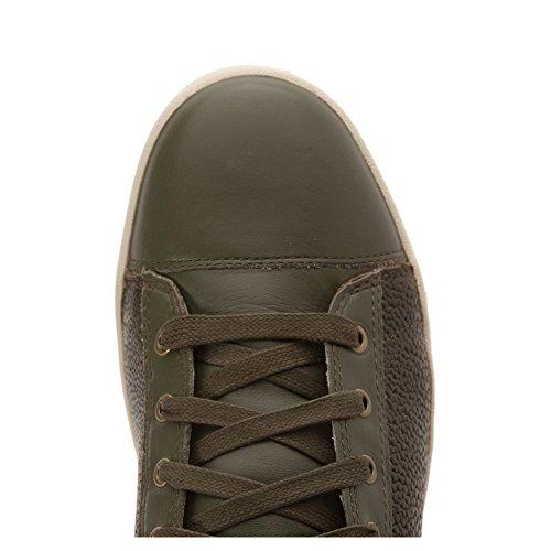 Diesel Mens Tempus Diamant Mode Sneaker Vert Olive