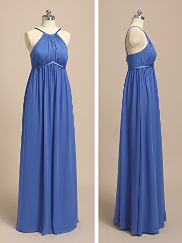 Maxi Coral Sleveless Pink Party Bridesmaid Dress Alicepub Long Empire Prom Chiffon Dresses Evening RwTSTqgpa