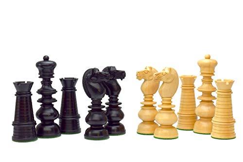 Staunton 3 3/4' King - ROOGU North Sea Coast - Chess Figures Set KH 3.75'' Boxwood 2 Extra Queens