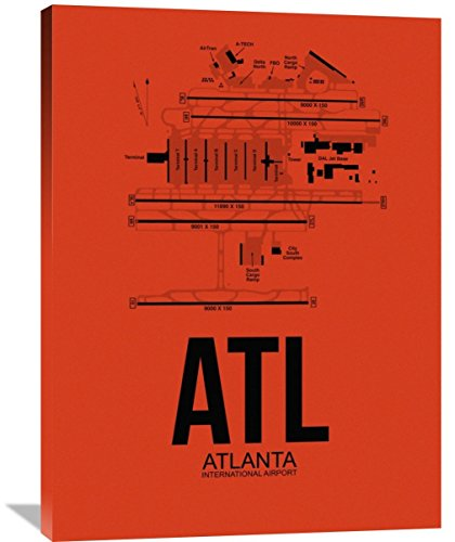 "Naxart Studio ATL Atlanta Airport Orange Giclee on Canvas, 30"" by 1.5"" by 40"""
