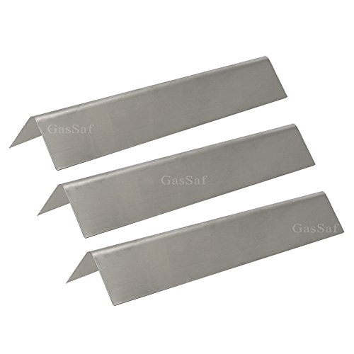 GASSAF JXS635(3 packs) Flavorizer Bars 304 Stainless Steel Heat Plate Replacement for Weber Spirit 200 and E210 Series Gas Grills (L15.3 x W3.5x T2.5 (Stainless Steel Flavor Bar)