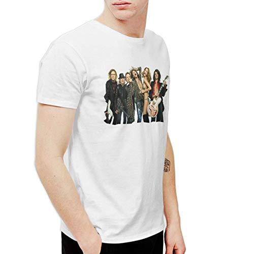 (Kangtians DeloresSade Mens Aerosmith Funny Outdoor White T Shirt 33 Short)