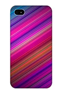 Freshmilk Scratch-free Phone Case For Iphone 4/4s- Retail Packaging - Abstract Colors