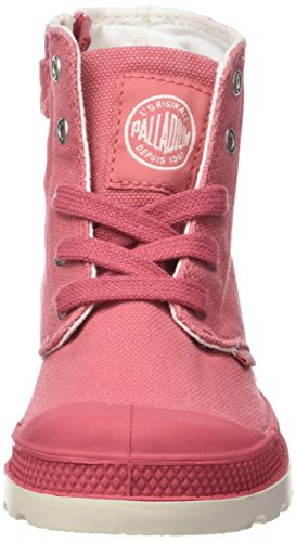Palladium 53196, Zapatillas Altas de Tela Infantil Rosa (Garnet Rose/Marshmallow)