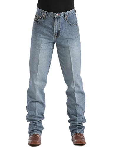 Cinch Men's Black Label Loose Fit Jean,  Stone Blast, 30W x 38L