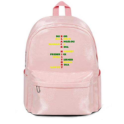 Black History Leaders Men's Premium Bag Fashion Nylon Durable School Backpack Bag for Men Women and Kids