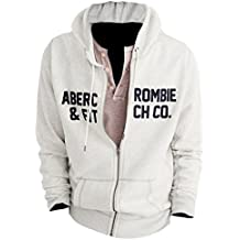 Abercrombie Men's Graphic Applique Zip-Up Hoodie