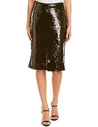 Womens Sequin Skirt, 38, Black