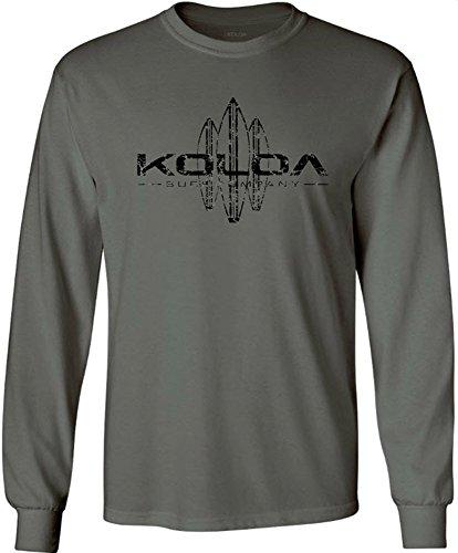 Koloa Surf. Vintage Surfboard Tall Long Sleeve Heavy Cotton T-Shirts-2XLT ()