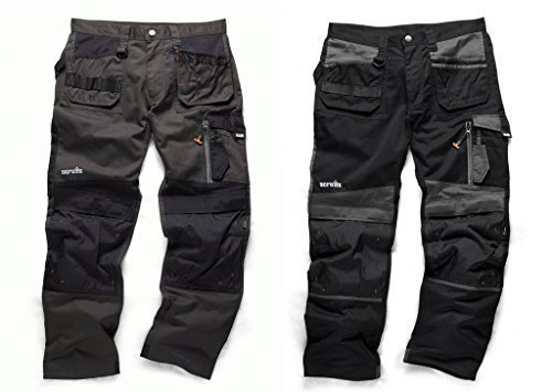 Black Knee Work Trouser 3d Pack Cordura Scruffs Twin Holster Trade Pants Pad qBR1wP