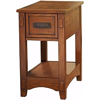 ashley furniture signature design breegin chairside end table 1 drawer brown