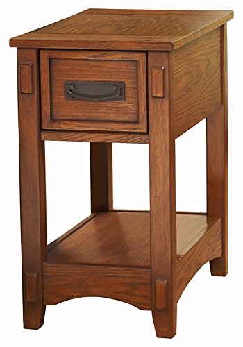 Ashley Furniture Signature Design - Breegin Chairside End Table - 1 Drawer - Contemporary - Brown (Tables End Drawers With)