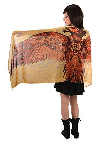Harry Potter Fawkes Phoenix Lightweight Scarf for Women Red -