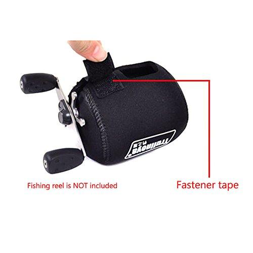 Trulinoya 1pc Black Neoprene Color Fishing Reel Bag For Spinning Casting Baicasting Trolling Reel Wheel