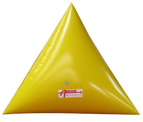 Premium 7' Triangle Swim Marker Buoy YELLOW