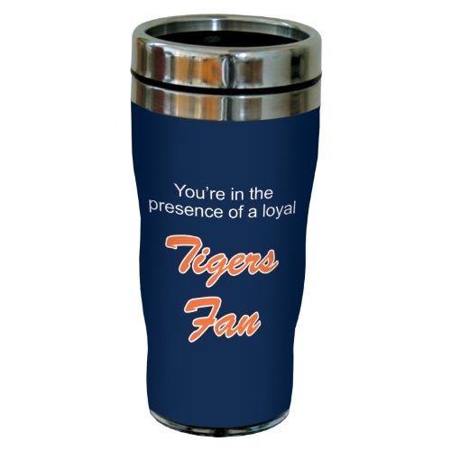 Tree-Free Greetings sg24086 Tigers Baseball Fan Sip 'N Go Stainless Steel Lined Travel Tumbler, 16-Ounce
