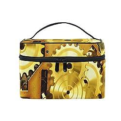 Toiletry Bag Multifunction Cosmetic Bag Portable Toiletry Case Waterproof Travel Organizer Bag for Women Girls Steam Clock Work Brass