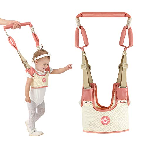 Atomcool Detachable Baby Walking Harness Handheld Baby Walker, Baby Walking Assistant Safety Harnesses, Breathable Stand Up & Walking Learning Helper for Infant, Pulling and Lifting Dual Use