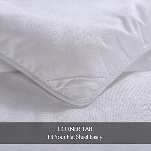 EMONIA Full/Queen Size Comforter for Summer,White Quilted Down Alternative Duvet Insert-Hotel Collection Reversible Hypoallergenic Light and Machine Washable by EMONIA (Image #5)