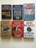 David Baldacci (Set of 6) Split Second; Hour Game; Simple Genius; 1st Family; 6th Man; King & Maxwell